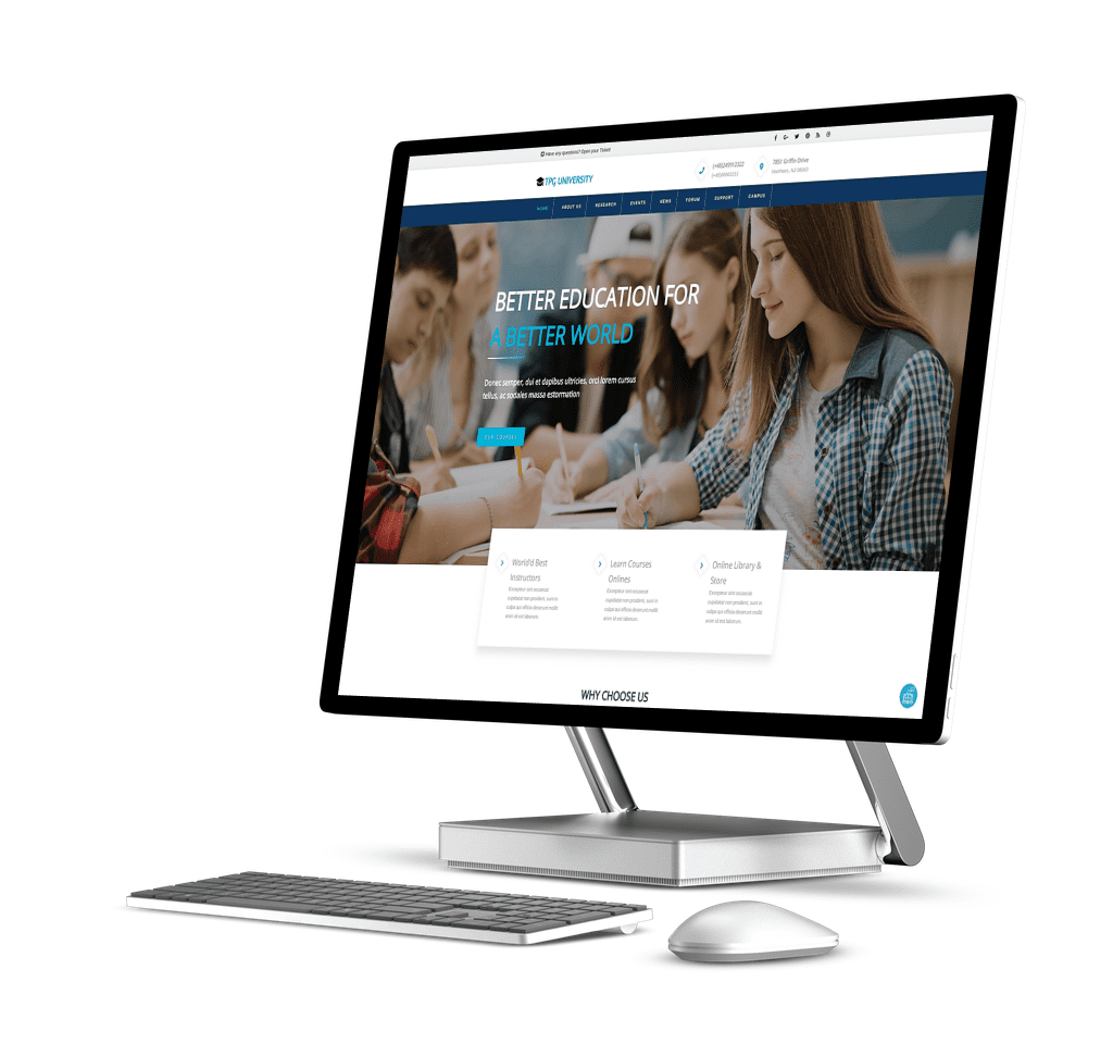 tpg-university-wordpress-theme-page