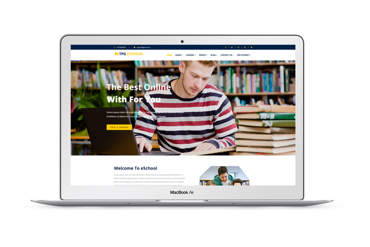 TPG eSchool – Free Online school Wordpress Theme - TakeWP