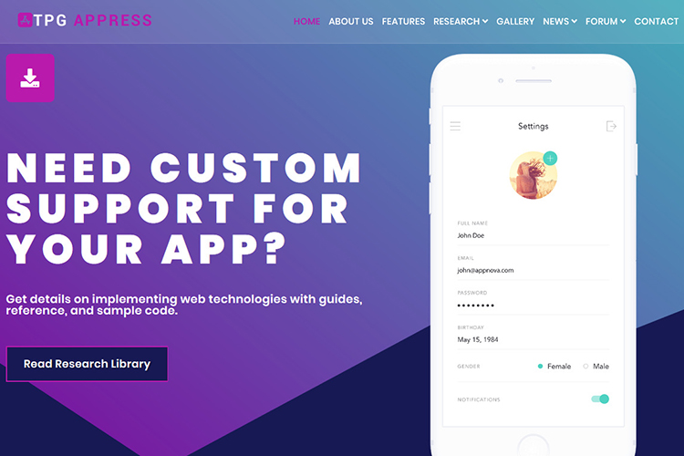tpg-appress-wordpress-themefull